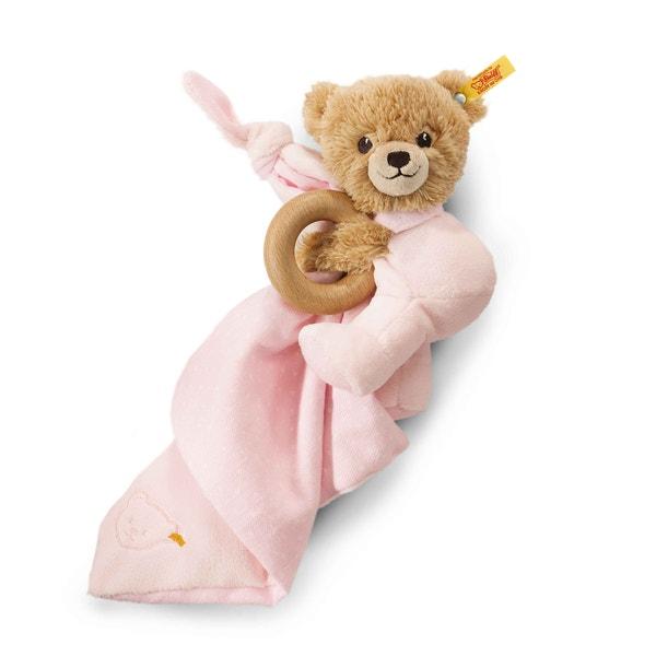 30 cm rosa Steiff Schlaf Gut Bär Schmusetuch
